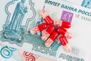 closeup pills and money